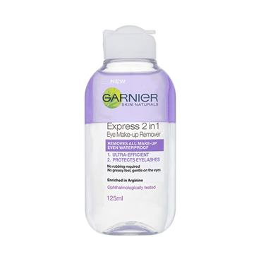 GARNIER 2 IN 1 EYE MAKE UP REMOVER 125ML
