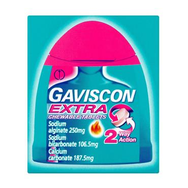 GAVISCON EXTRA CHEWABLE HANDY PACK TABLETS 12S