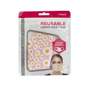 REUSABLE LADIES FACE MASK VARIOUS DESIGNS