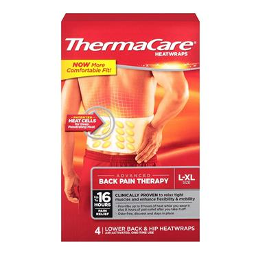THERMACARE HEATWRAPS BACK 4PK