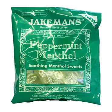 JAKEMANS PEPPERMINT MENTHOL SOOTHING SWEETS 100G
