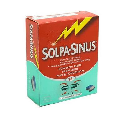 SOLPA SINUS TABLETS 18S