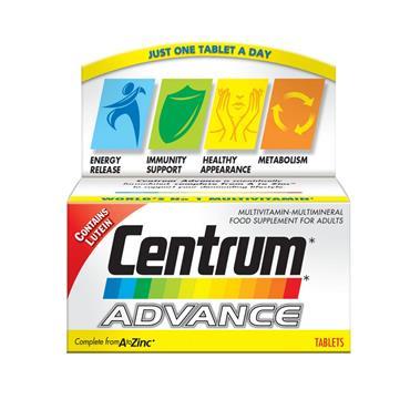 CENTRUM ADVANCE MULTIVITAMIN & MINERAL 60'S
