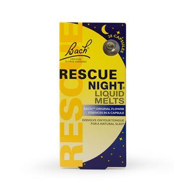 BACH RESCUE NIGHT LIQUID MELTS 28 CAPSULES
