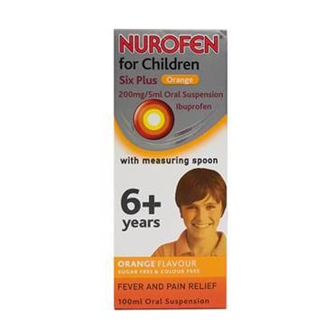 NUROFEN 6+ YEARS SUGAR FREE ORANGE SPOON 100ML