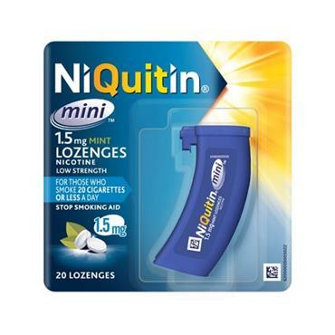 NIQUITIN MINI LOZENGES 1.5MG 20 LOZENGES