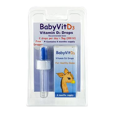 BABY VITAMIN D3 WITH DROPPER 10.7ML