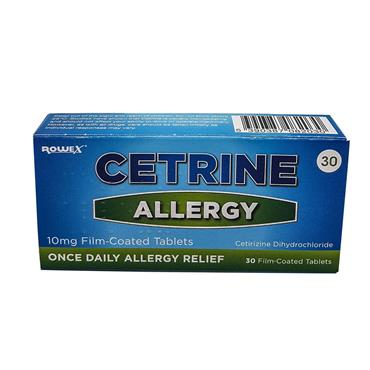 CETRINE ALLERGY TABLETS 10MG 30S