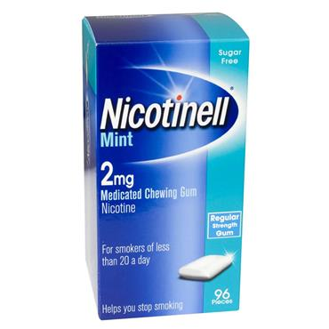 NICOTINEL COOL MINT GUM 2MG 96