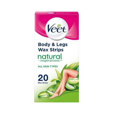 VEET NATURAL WAX STRIPS NORMAL 20S