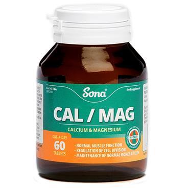 SONA CALCIUM/MAGNESIUM 60 TABLETS