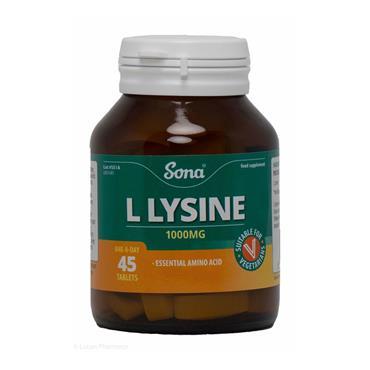 SONA L-LYSINE 1000MG 45S