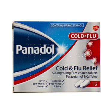 PANADOL COLD/FLU 12 TABLETS