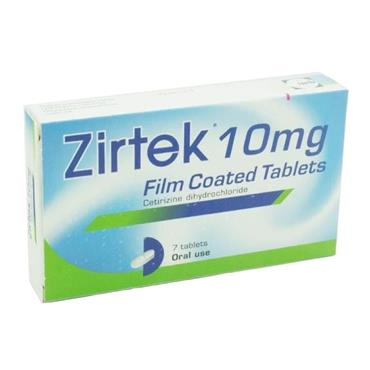 ZIRTEK 10MG 7 TABLETS