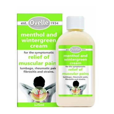 OVELLE MENTHOL & WINTERGREEN CREAM 125ML
