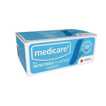 MEDICARE BLUE PLASTERS 100S