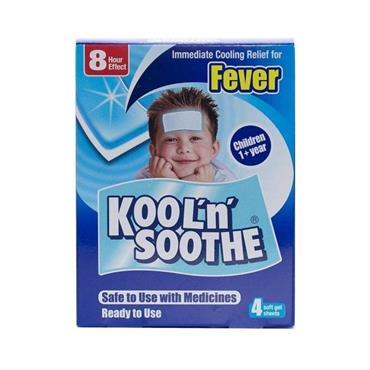KOOL N SOOTHE FEVER 4 SOFT GEL SHEETS