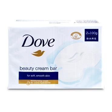 DOVE BEAUTY CREAM BAR SOAP ORIGINAL TWIN PACK 2 X 100G