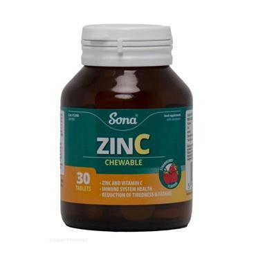 SONA ZINC AND VITC CHEWABLE TABLETS 30S