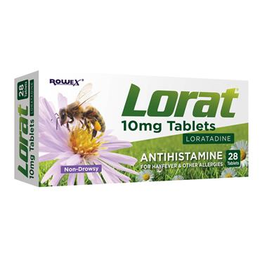 LORAT ANTIHISTAMINE FOR HAYFEVER & ALLERGIES 10MG 28S