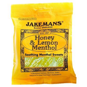 JAKEMANS HONEY & LEMON MENTHOL SOOTHING SWEETS 100G