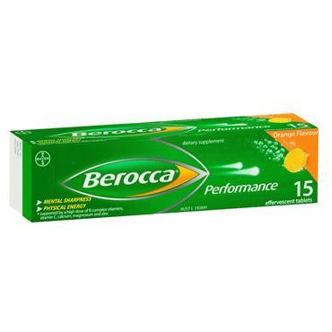 BEROCCA EFFERV TABS 15S ORANGE