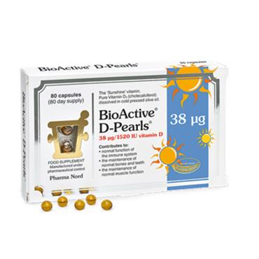 PHARMA NORD BIOACTIVE D-PEARLS 38 UG/1520 IU 80'S