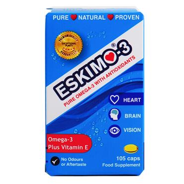 ESKIMO-3 OMEGA-3 OIL WITH VITAMIN E 105 CAPSULES