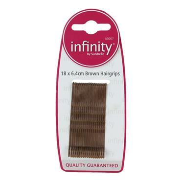 INFINITY BROWN HAIRGRIPS LONG
