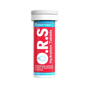ORS REHYDRATE TABLETS STRAWBERRY 12S