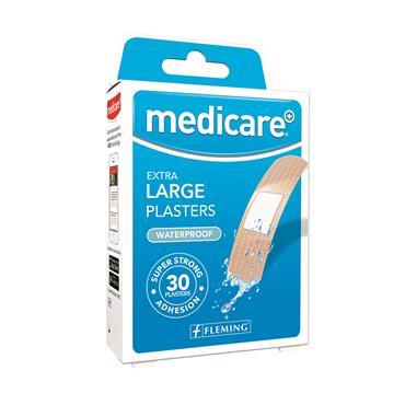 MEDICARE EXTRA LARGE PLASTERS WATERPROOF 30 PACK