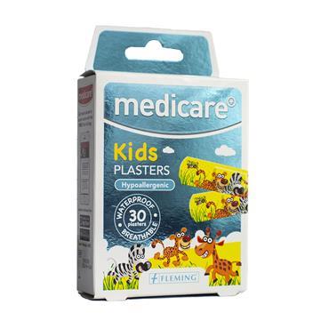 MEDICARE KIDS PLASTER ANIMAL DESIGN 30 PLASTERS