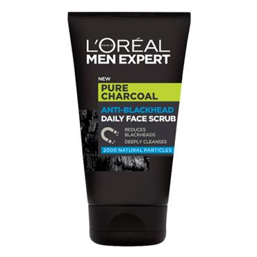 LOREAL MEN EXPERT PURE CHARCOAL ANTI-BLACKHEAD DAILY FACE SCRUB 100 ML