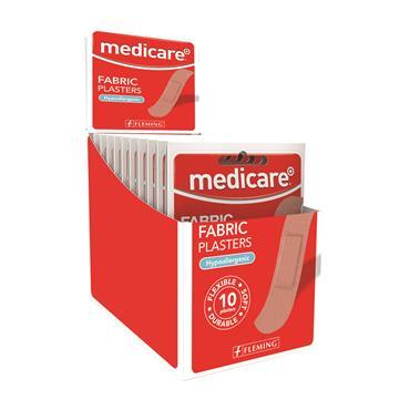 MEDICARE FABRIC PLASTERS 10 PLASTERS