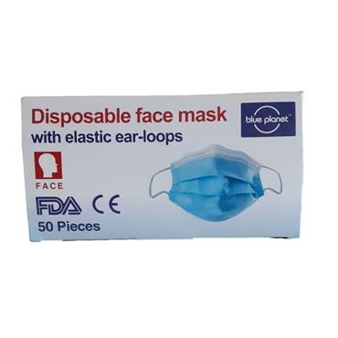 3 PLY SURGICAL DISPOSABLE EAR-LOOP FACE MASKS BOX 50'S