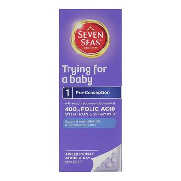 SEVEN SEAS TRYING FOR A BABY 28 ONE-A-DAY MINI PILLS