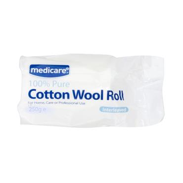 MEDICARE COTTON WOOL ROLL 250G
