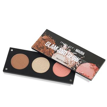 INGLOT X MAURA GLAM AND GLOW TRIO PALETTE LIGHT