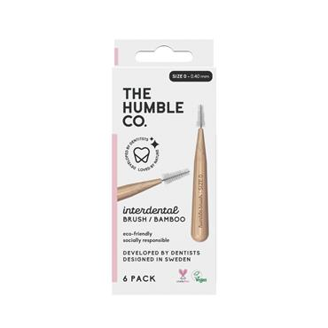 HUMBLE BAMBOO INTERDENTAL BRUSH 6 PACK - SIZE O