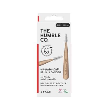 HUMBLE BAMBOO INTERDENTAL BRUSH 6 PACK - SIZE 2