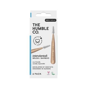 HUMBLE BAMBOO INTERDENTAL BRUSH 6 PACK - SIZE 3