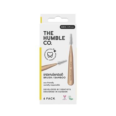HUMBLE BAMBOO INTERDENTAL BRUSH 6 PACK - SIZE 4