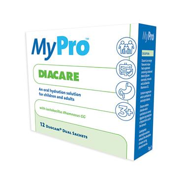 MYPRO DIACARE ORAL HYDRATION SOLUTION FOR CHILDREN AND ADULTS 12 DUAL SACHETS