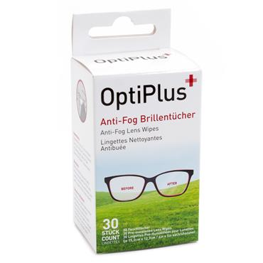 OPTIPLUS ANTI-FOG LENS WIPES 30 WIPES