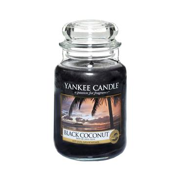 YANKEE BLACK COCONUT LARGE JAR