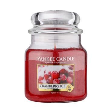 YANKEE CRANBERRY ICE MEDIUM JAR CANDLE