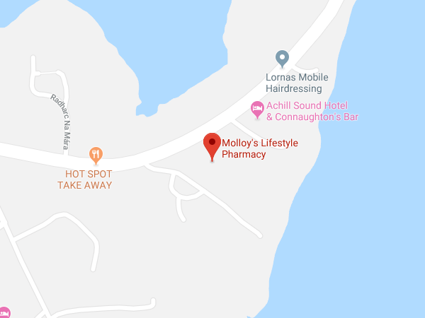 Molloys Achill location map