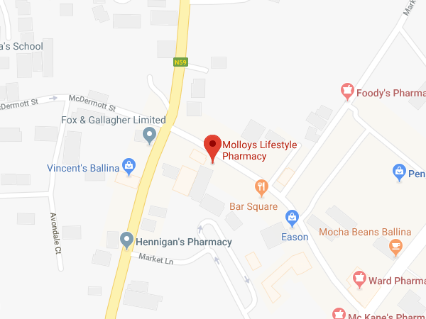 Molloys Ballina Garden Street location map
