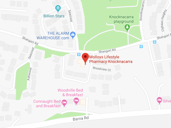 Molloys Galway Knocknacarra location map