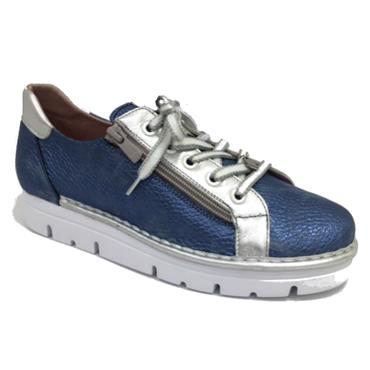 Lace Zip Shoe 2001-A-M Jose Saenz-BLUE